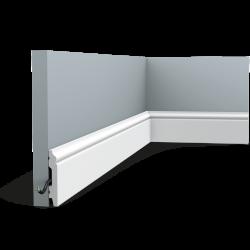 Listwa przypodłogowa gięta (flex) gładka SX165F (wym.200x6.9x1.1cm)