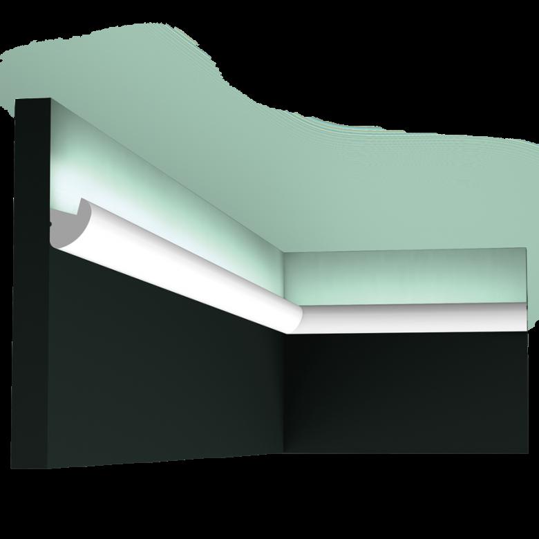 Listwa oświetleniowa gięta (flex) gładka CX188F (wym.200x3.4x3cm)