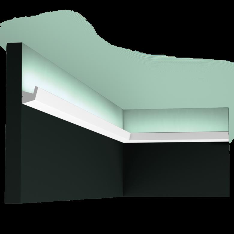 Listwa oświetleniowa gięta (flex) gładka CX189F (wym.200x2.7x2.7cm)