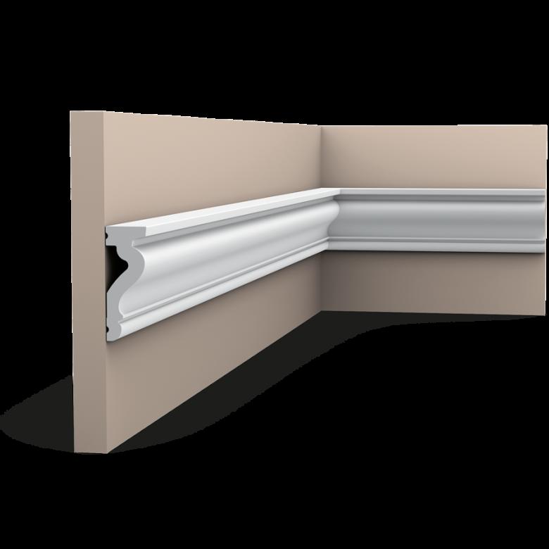 Listwa ścienna gładka gięta DX174F (wym.200x2.2x6cm)