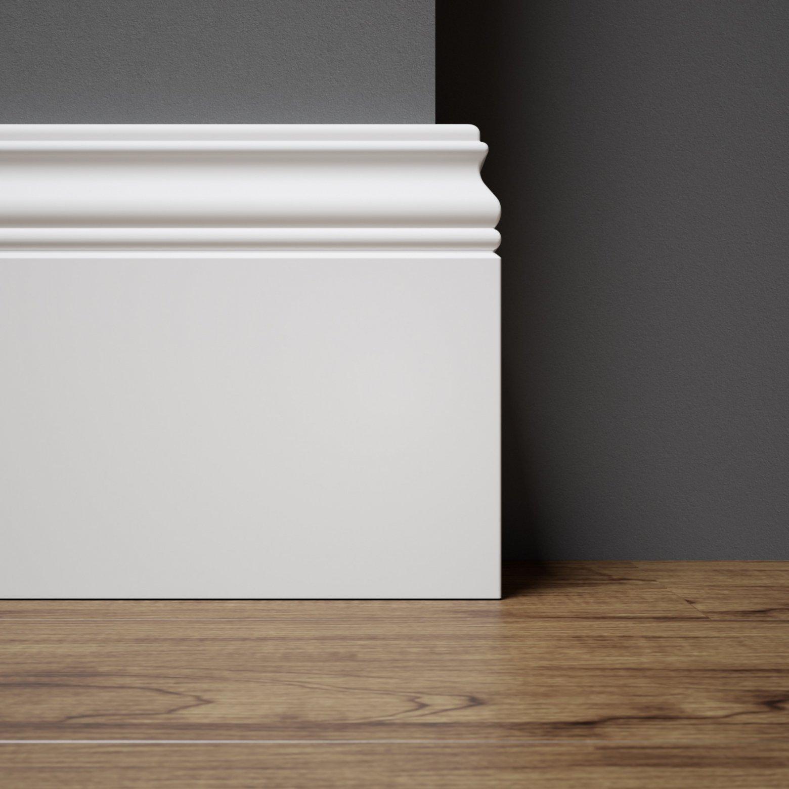 Biala listwa podlogowa lakierowana - Alexa
