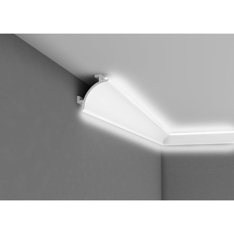 Listwa poliuretanowa Mardom Decor oświetleniowa dwustronna sufit ściana QL001 Kolekcja Duo