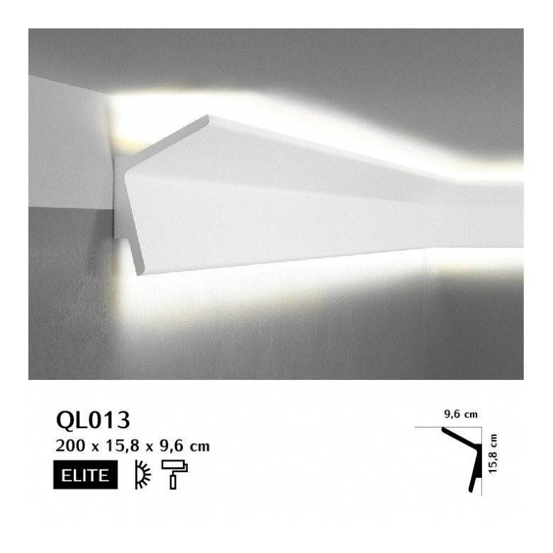 Listwa poliuretanowa Mardom Decor oświetleniowa dwustronna LED QL013 Paper MARDOM DECOR - 1