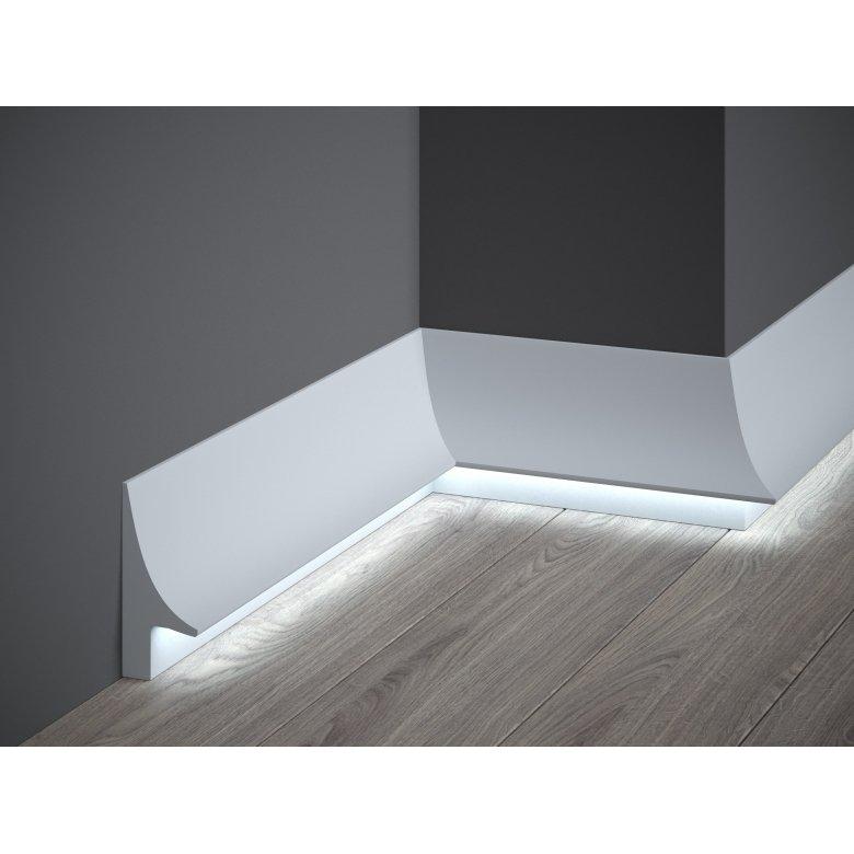 Listwa przypodłogowa poliuretanowa Mardom Decor lakierowana biała QS007P One-Premium - wysokość 10cm MARDOM DECOR - 1