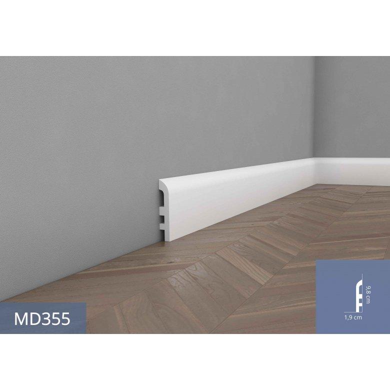 Listwa przypodłogowa poliuretanowa Mardom Decor elastyczna MD355F