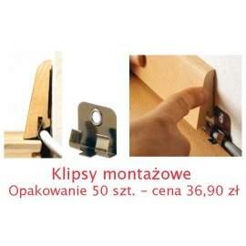 Klipsy montażowe do listew drewnianych 50 szt.