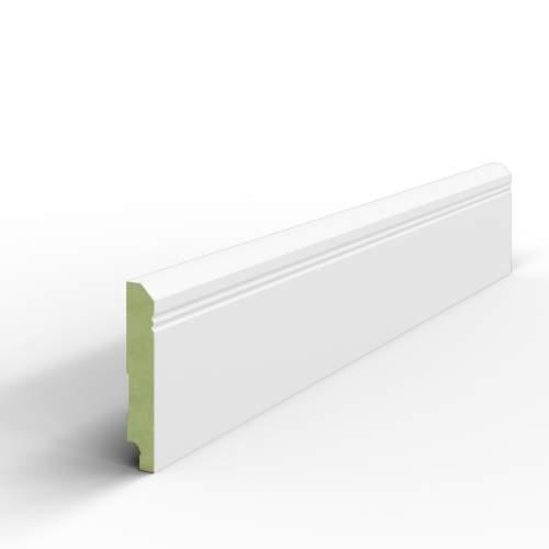 Desimo - 100x16x2440 mm - Listwa przypodłogowa biała MDF WILGOCIOODPORNA lakierowana RAL 9003