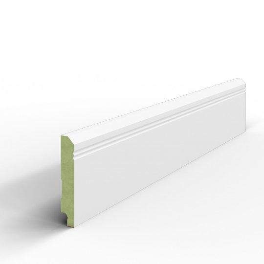 Listwa przypodłogowa biała lakierowana MDF WILGOCIOODPORNY (Desimo - 100x16 mm)