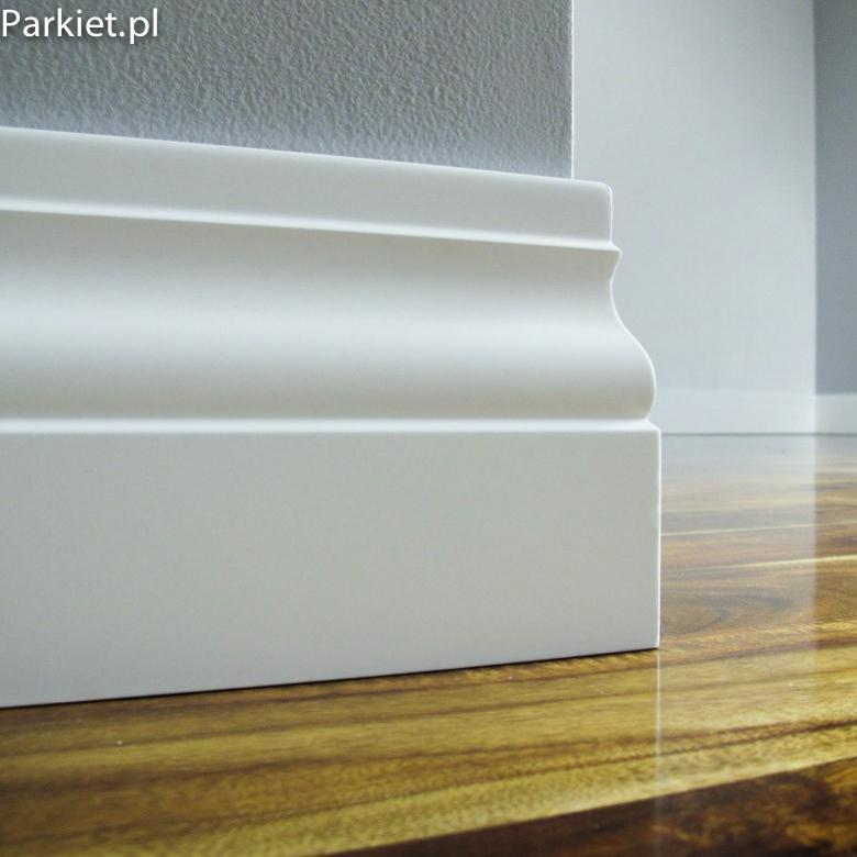 Biala listwa podlogowa lakierowana - Bonita - wymiary 150/18 mm