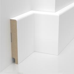 Listwa przypodłogowa biała lakierowana MDF STANDARD (Trio S - 100x16 mm)