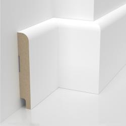 Listwa przypodłogowa biała lakierowana MDF STANDARD (Solo S - 100x16 mm)