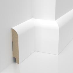 Listwa przypodłogowa biała lakierowana MDF STANDARD (Otto S - 80x16 mm)
