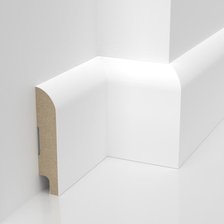 Listwa przypodlogowa MDF - Otto - wymiary 80/16 mm