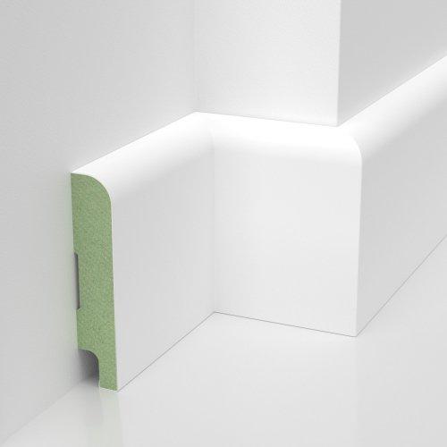 Listwa przypodłogowa MDF Solo  wym. 2500/80/16 mm Wilgocioodporna lakierowana