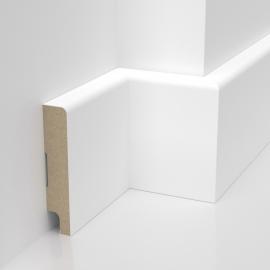Listwa przypodłogowa biała lakierowana MDF STANDARD (Trio S - 80x16 mm)