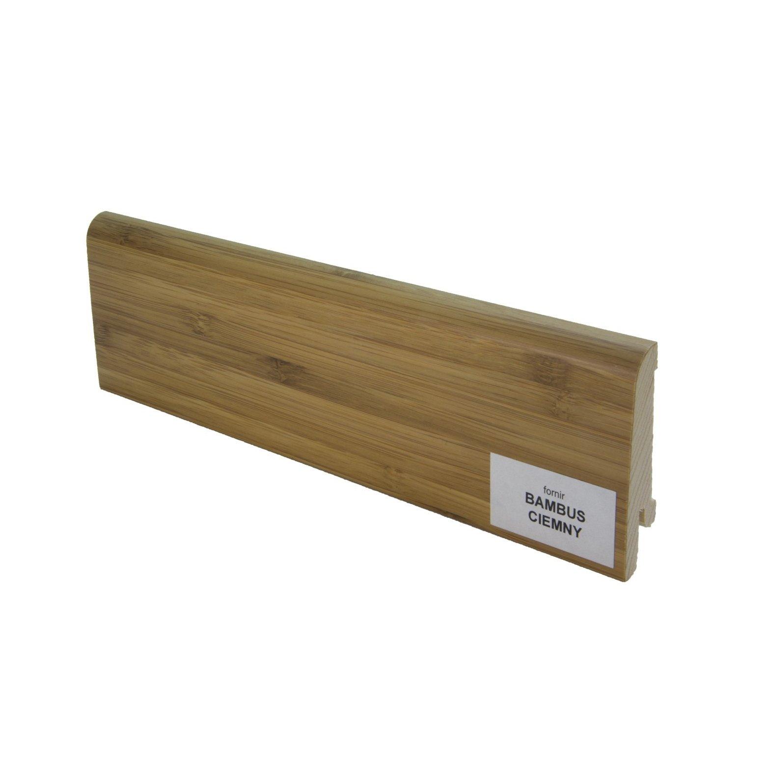 Listwa przypodłogowa drewniana (60/14 mm) BAMBUS  CIEMNY Pedross - 1