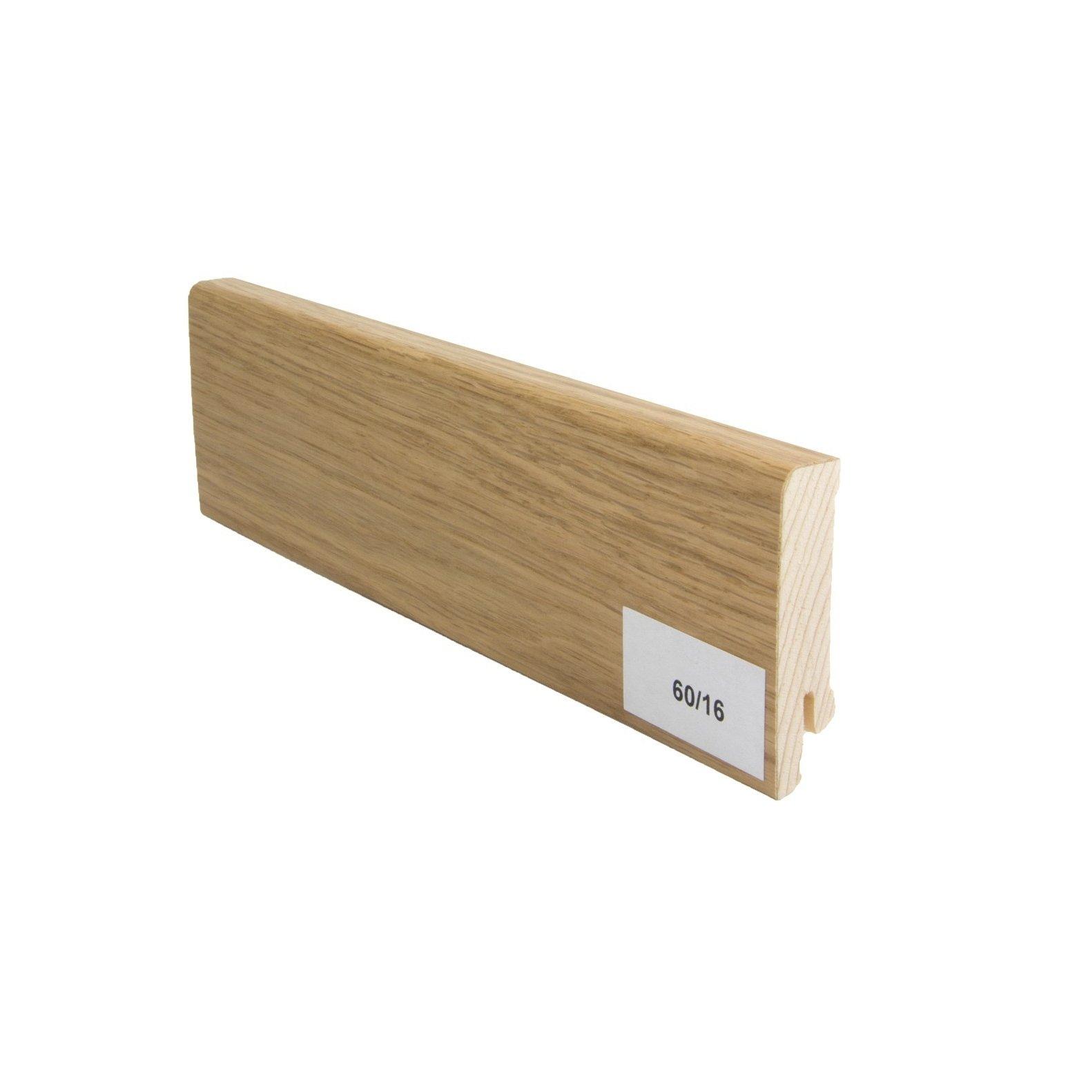 Listwa przypodłogowa drewniana (60/16 mm) Dąb europejski lakierowana