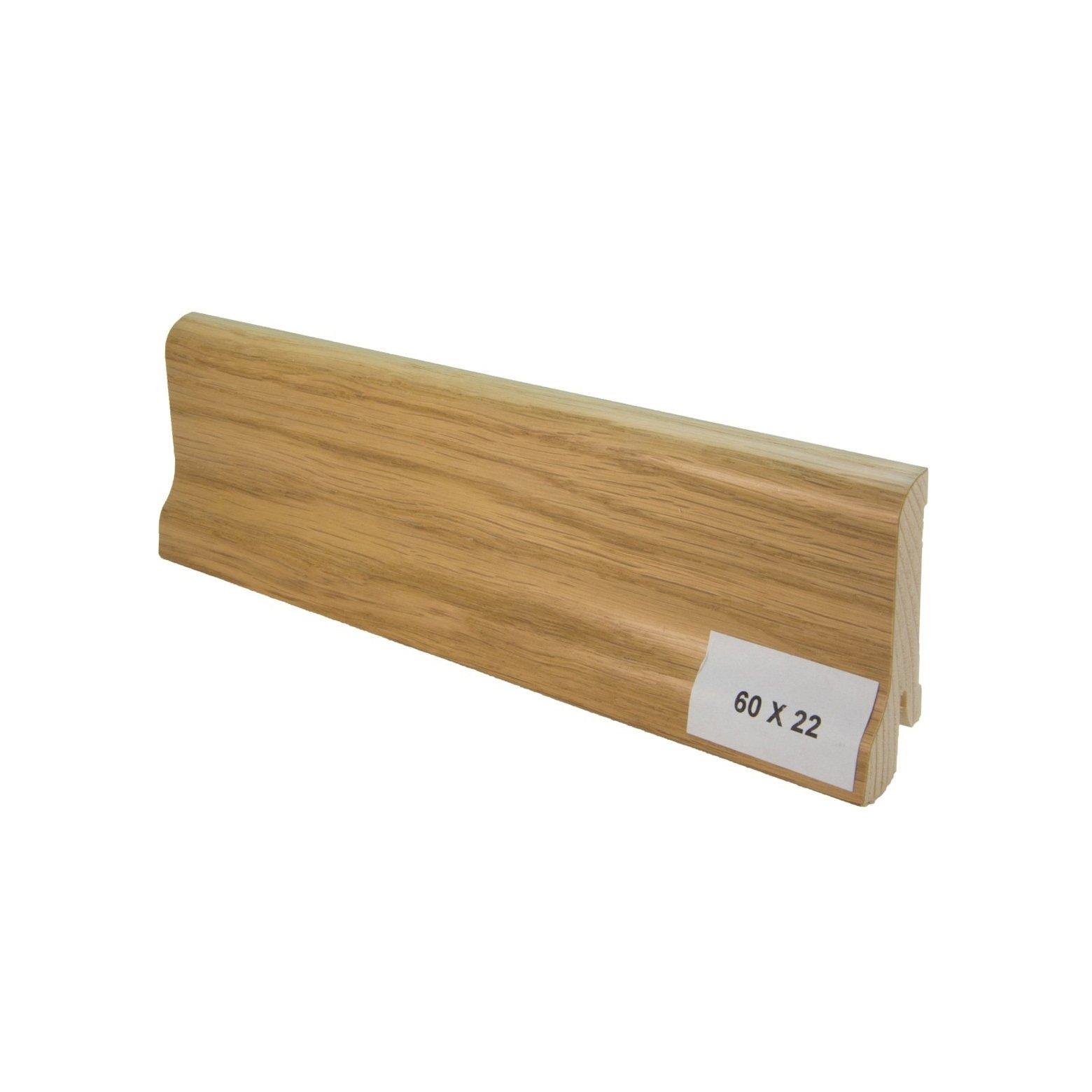 Listwa drewniana (60/22 mm) DĄB EUROPEJSKI LAKIEROWANA Pedross - 1