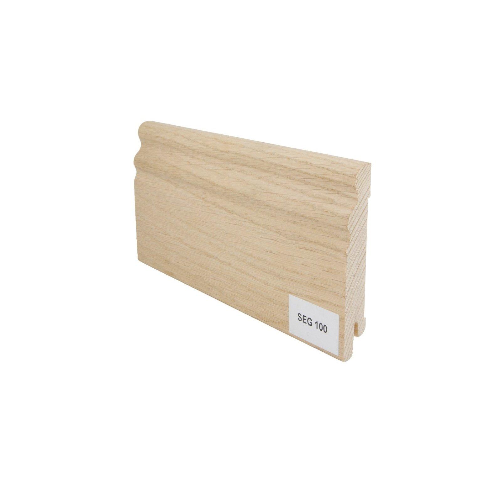 Listwa przypodłogowa drewniana SEG100 (95/13 mm) DĄB SUROWY Pedross - 1