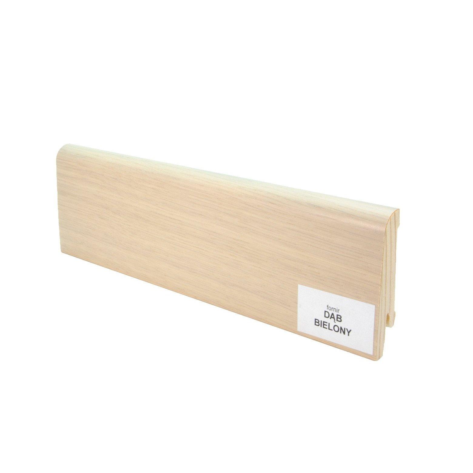 Listwa przypodłogowa drewniana (60/14 mm) DĄB BIELONY LAKIER