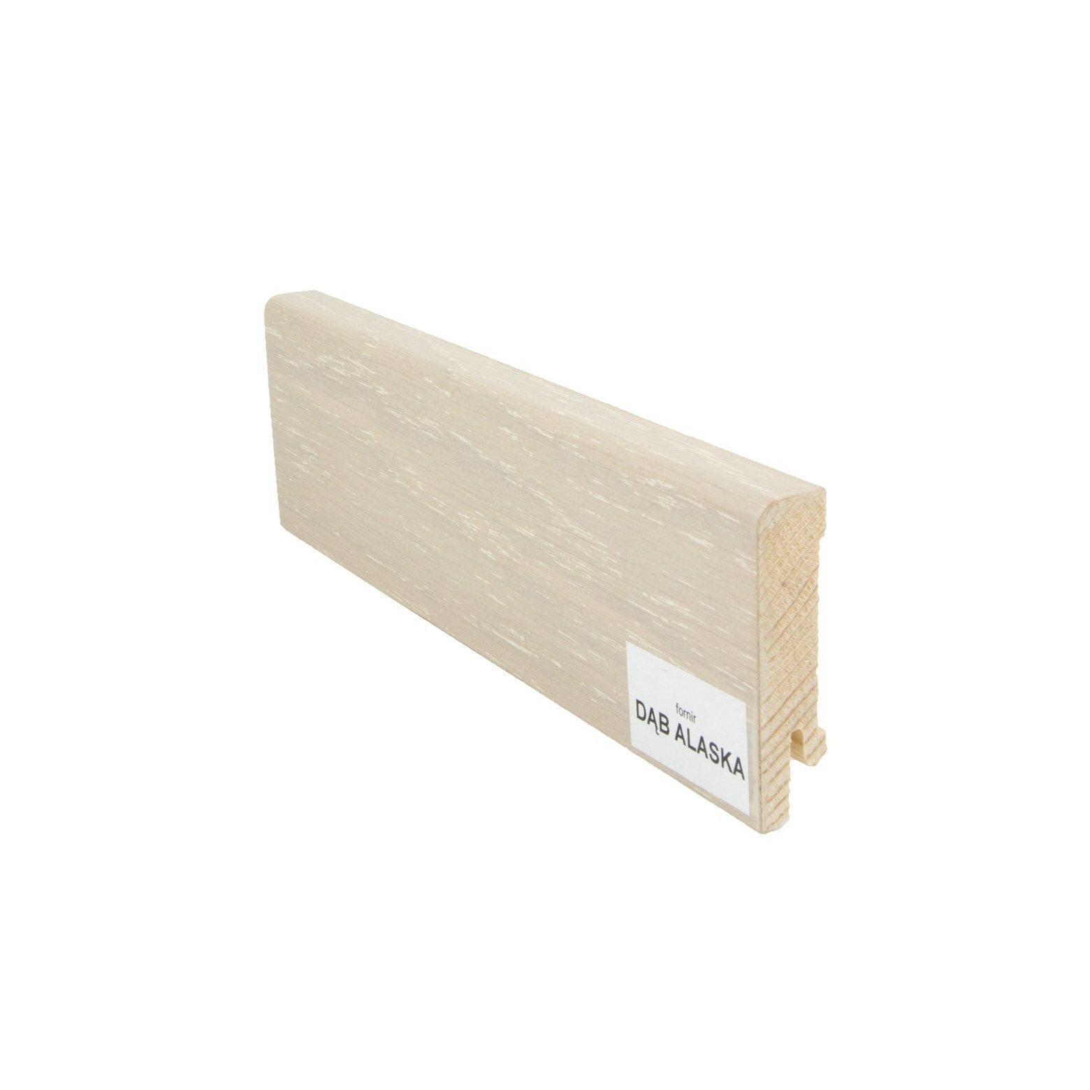 Listwa przypodłogowa drewniana (60/16 mm) DĄB ALASKA Pedross - 1