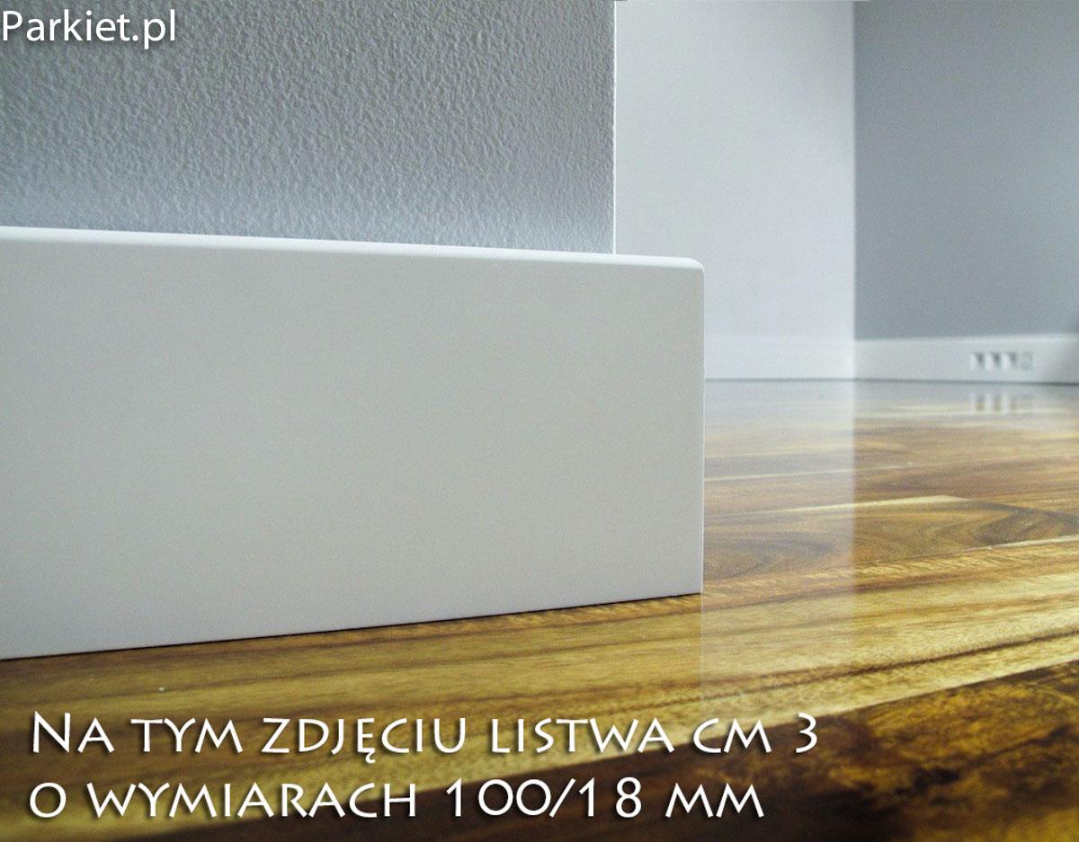 profil cm-3 listwy przypodlogowe biale lakier.