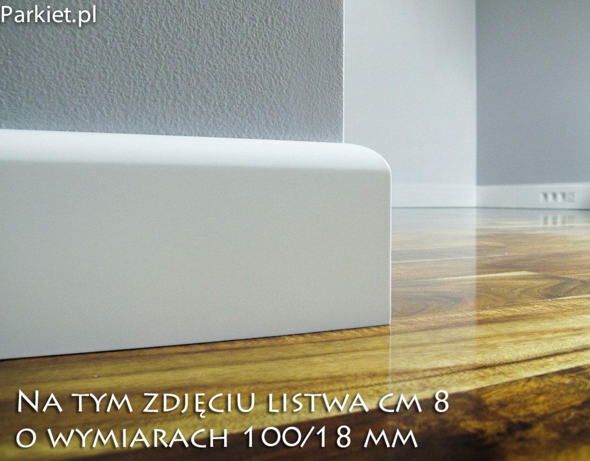 profil cm-8 listwy przypodlogowe biale lakier.