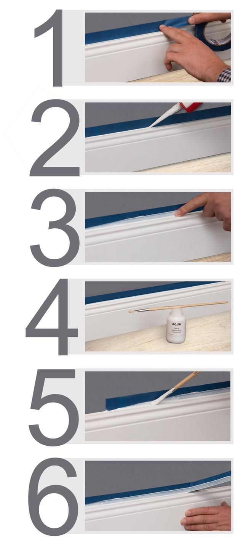 uszczelnianie listew przypodłogowych na ścianie