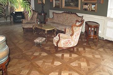 Podłogi pałacowe, tafle parkietowe